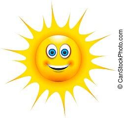 a happy smiling sun