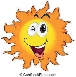 A happy sun