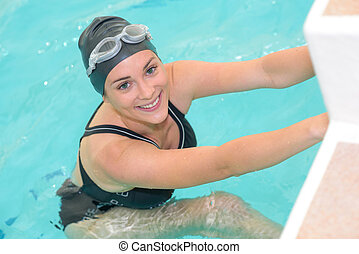 a happy swimmer