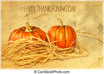 A Happy Thanksgiving Card