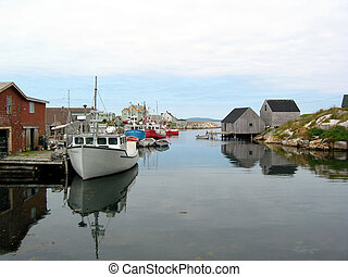 A harbour - Peggy's cove harbour