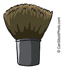 A hard cleaning brush