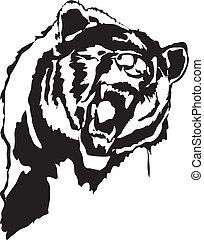 bear - A head of a bear