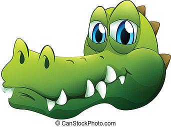 A head of a crocodile