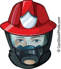 A head of a fireman