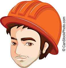 A head of an engineer