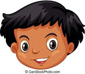 A head of black kid