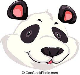 A head of panda