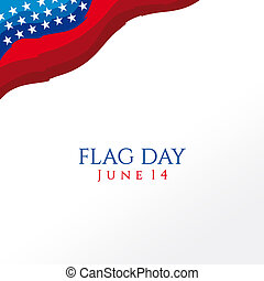 A header illustration with United States flag colors on Flag Day