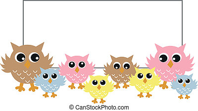 a header with sweet owls