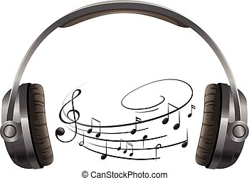 A headphone on white background