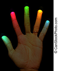 A healing hand with the glow of healing energies.