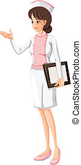 Illustration of a health care practitioner on a white background