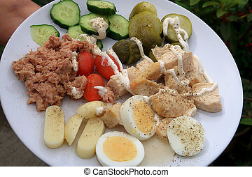 A healthy plate of Salad food