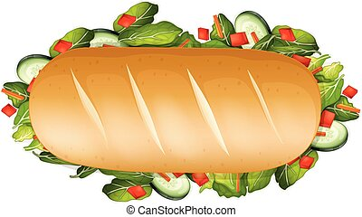 A Healthy Sandwich on White Background