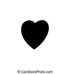 A heart. Black icon on white isolated background