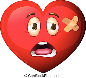 A heart character on white background