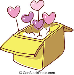 A heart in the box