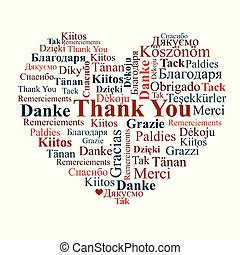 """A heart made of words """"Thank You""""."""