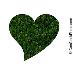 Love Going Environmentally Friendly - A heart shape in green...
