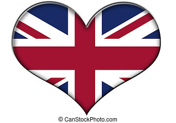 flag of united kingdom - a heart with the flag of united ...