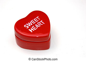 a heart with the words sweet heart printed on it