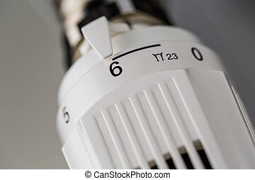 a heating thermostat - the thermostat of a radiator is...