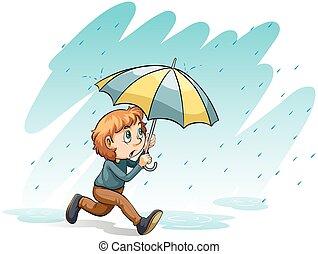 A heavy rain
