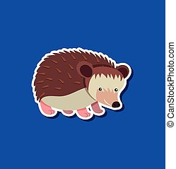 A hedgehog sticker character