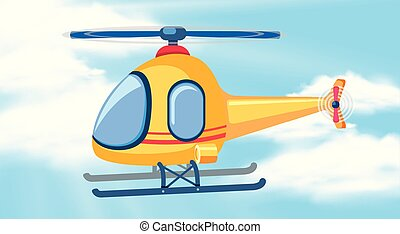 A helicopter on the sky