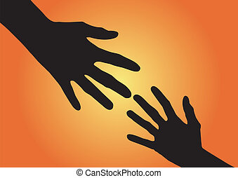 A helping Hand - Helping hands - vector illustration
