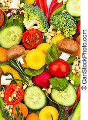 a, herz, gemacht, von, vegetables., gesundes essen