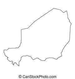 High detailed Outline of the country of Niger - A High...