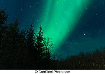A high resolution image of Aurora Borealis (Northern lights)