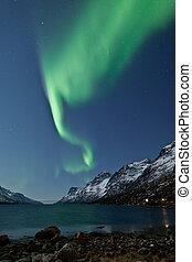 Aurora Borealis (Northern lights) - A high resolution image...