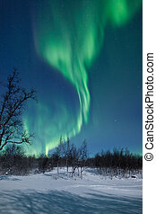 Aurora Borealis (Northern lights) - A high resolution image...