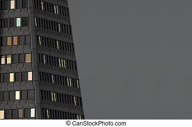 High Rise Building At Night