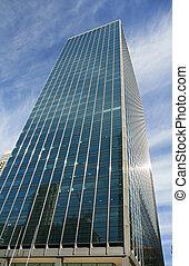 a, high-rise, edifícios, em, chicago