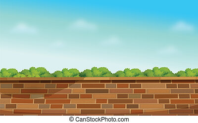 A high stonewall - Illustration of a high stonewall