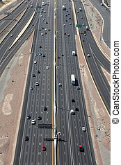 Highway or Freeway in the US from above