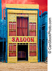 a, histórico, taverna, close-up