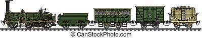 a, histórico, trem vapor
