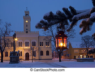 a historic building in christmas ti