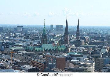 historic city - A historic city of Hamburg