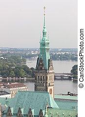 A historic city of Hamburg