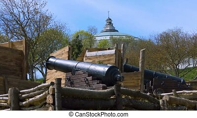 A historical place and a cannon - The cannon of the 18th...