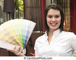 A home design shop with sales clerk