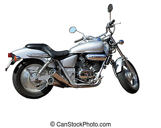 Honda Magna Motorbike - A Honda Magna Motorbike isolated...