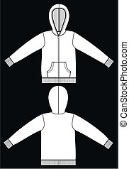a hoodie a garment sketch for textile and fashion industry