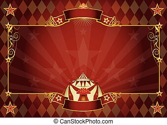 Horizontal rhombus circus background
